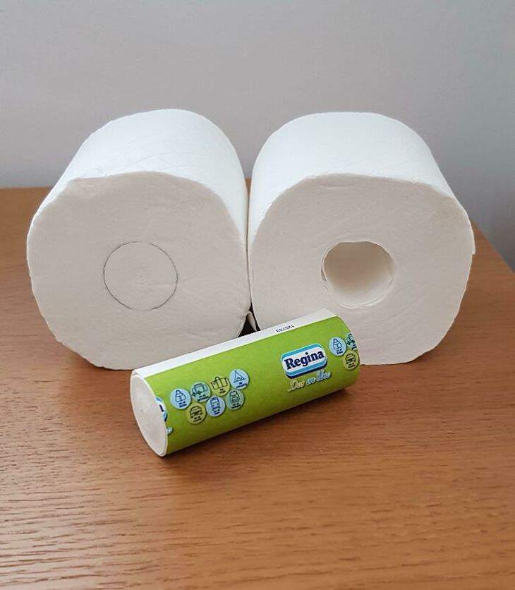 Cleverly Designed Products That Make Life Easier toilet paper roll contains a mini paper roll to carry with you, instead of a hollow cardboard roll