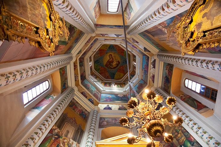 Beautiful Cathedrals, Saint Basil's Cathedral, Moscow, Russia interior