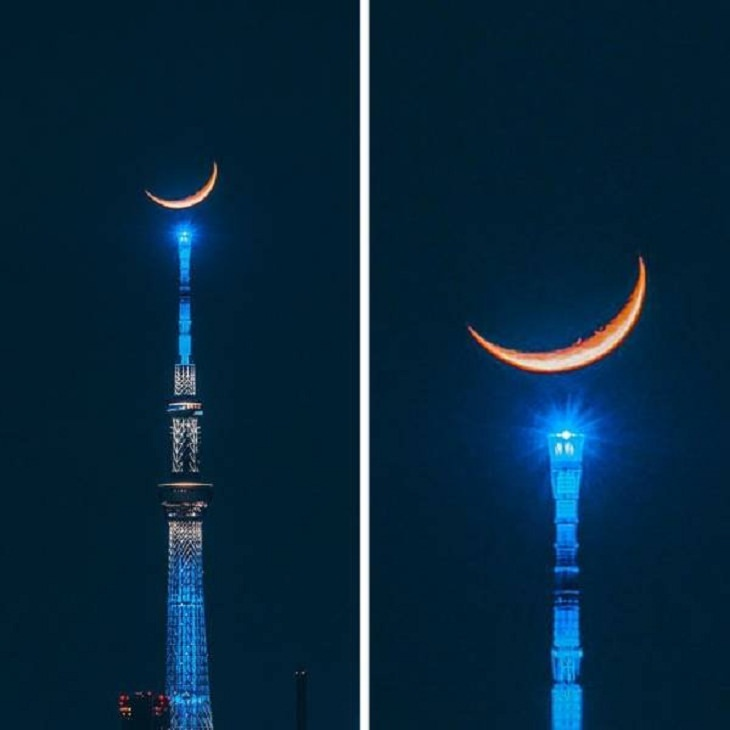 Perfectly-Timed Shots, crescent moon