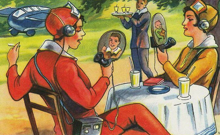 Future Predictions An artist's depiction of the future,painted in 1930