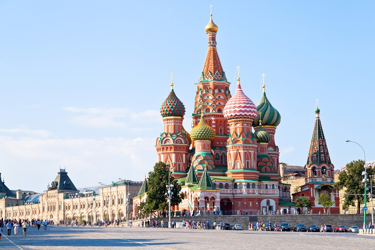 Beautiful Cathedrals, Saint Basil's Cathedral, Moscow, Russia