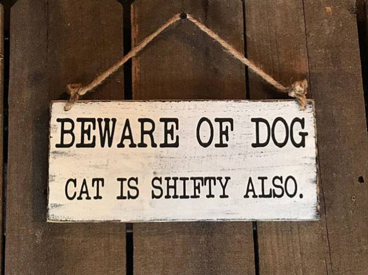 """""""Beware of the Dog"""" Signs and Dogs"""