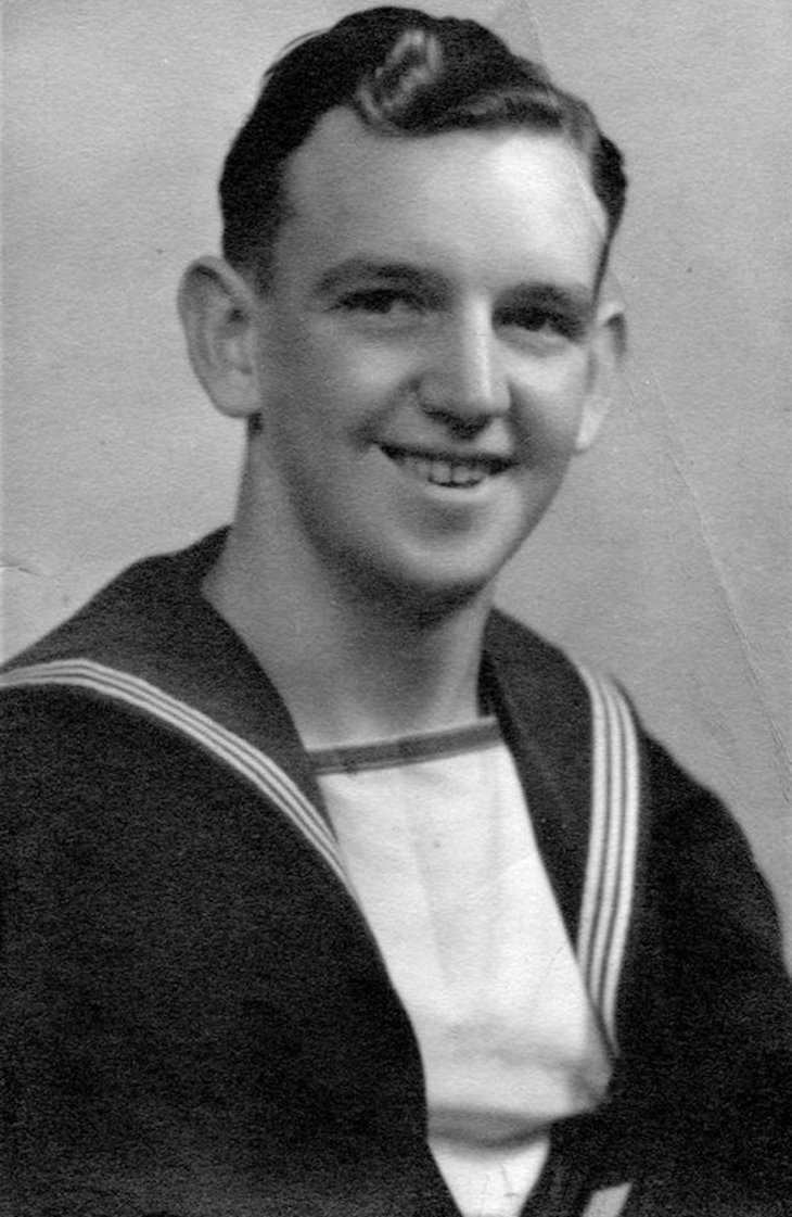 WWII Postcard Delivered After 77 Years  Bill Caldwell in his Royal Navyuniform, 2943