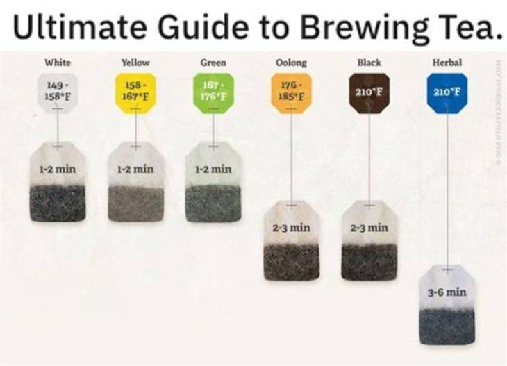 Practical Charts brewing tea