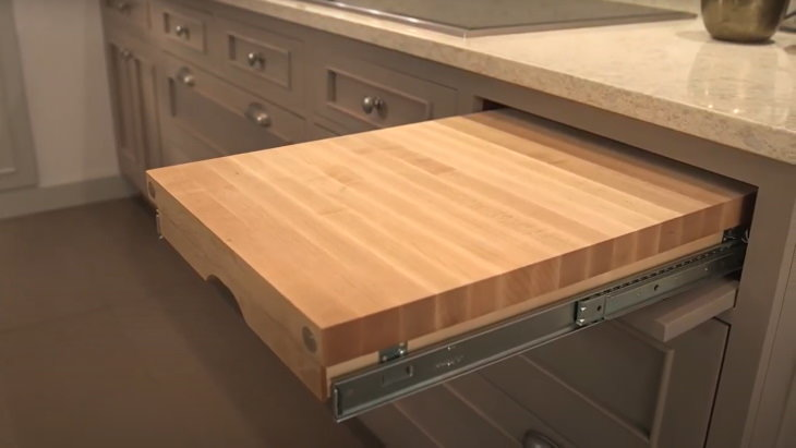 Items You're Using Wrong Built-in board in the kitchen