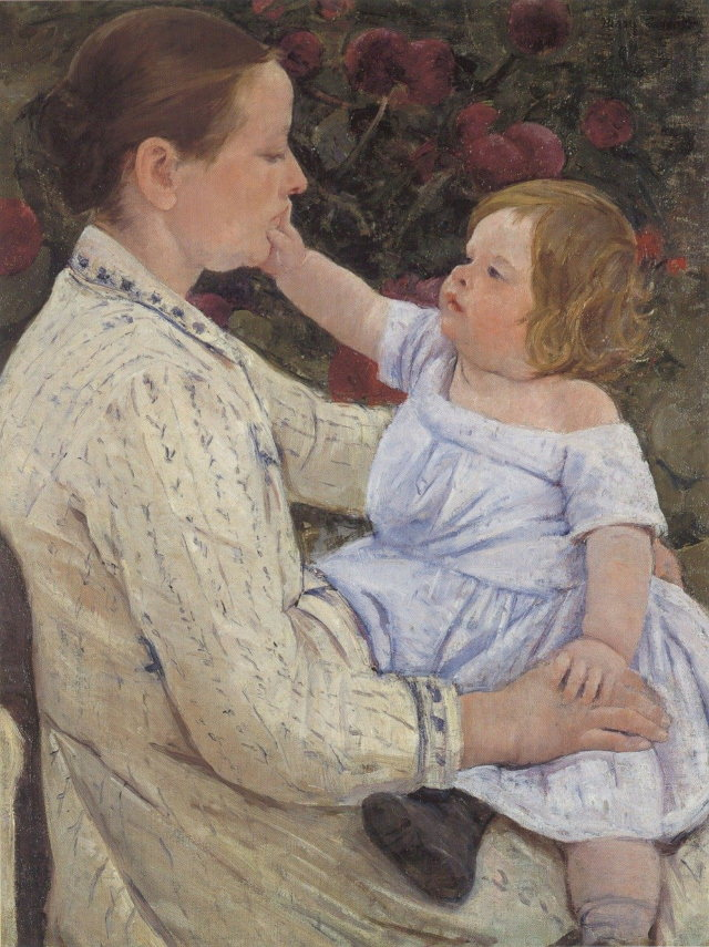 Famous Female Artists The Child`s Caress, c.1890