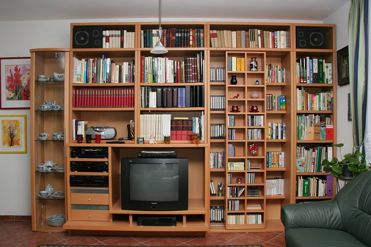 Furniture Arranging Mistakes, pushing it against the walls, bookcase