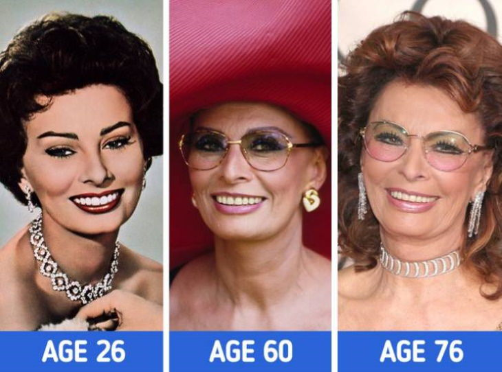 Actresses at Different Stages of Their Lives  Sophia Loren