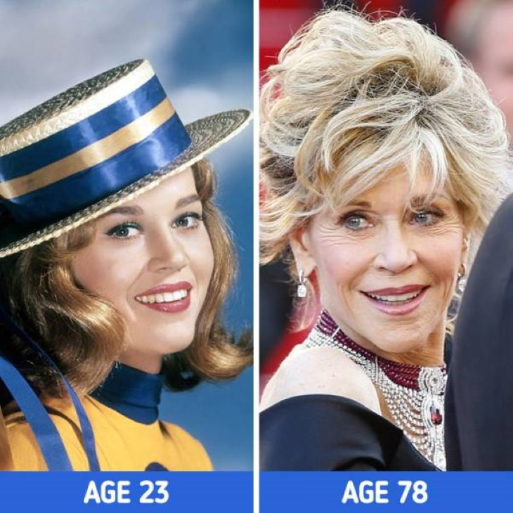 Actresses at Different Stages of Their Lives  Jane Fonda