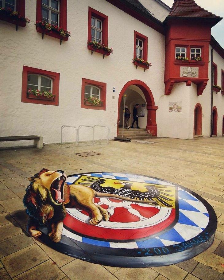 3D Street Art, lion