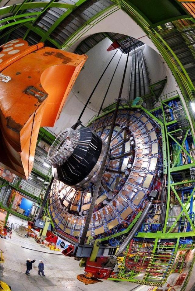 Comparison Photos Large Hadron Collider