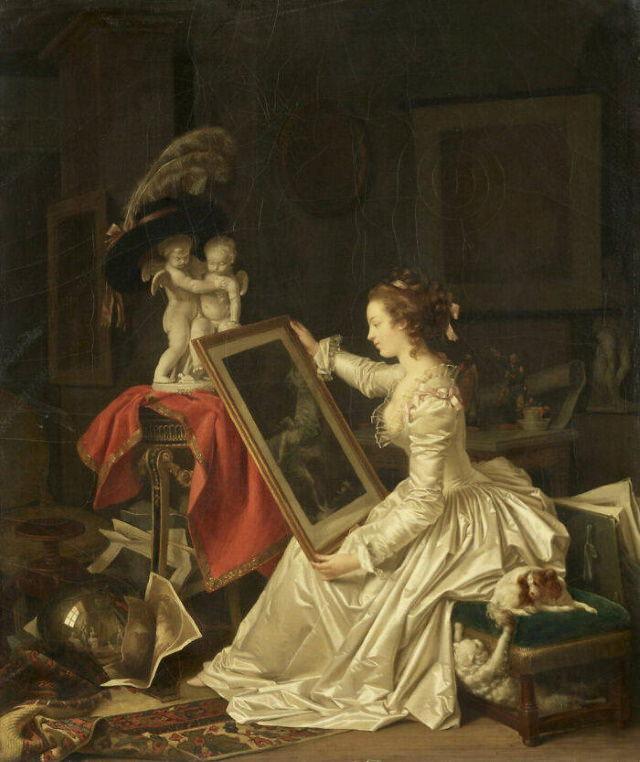 The Louvre's Art The interesting pupil byMarguerite Gérard(circa 1786)
