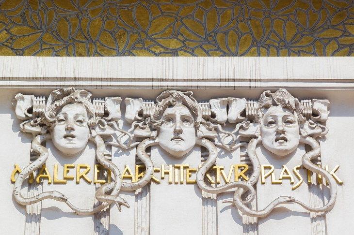 Art Nouveau Buildings The Secession Building in Vienna, Austria closeup