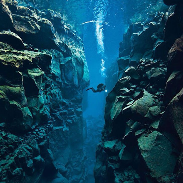 11 Curious and Unexpected Facts About Iceland diver tectonic plates