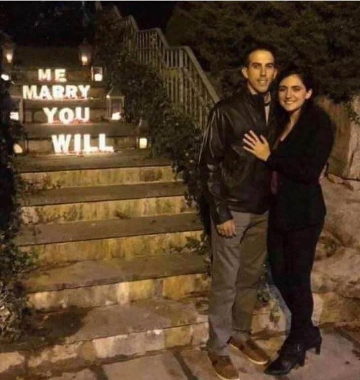 15 Hilarious Failures at Simple Tasks, marriage proposal