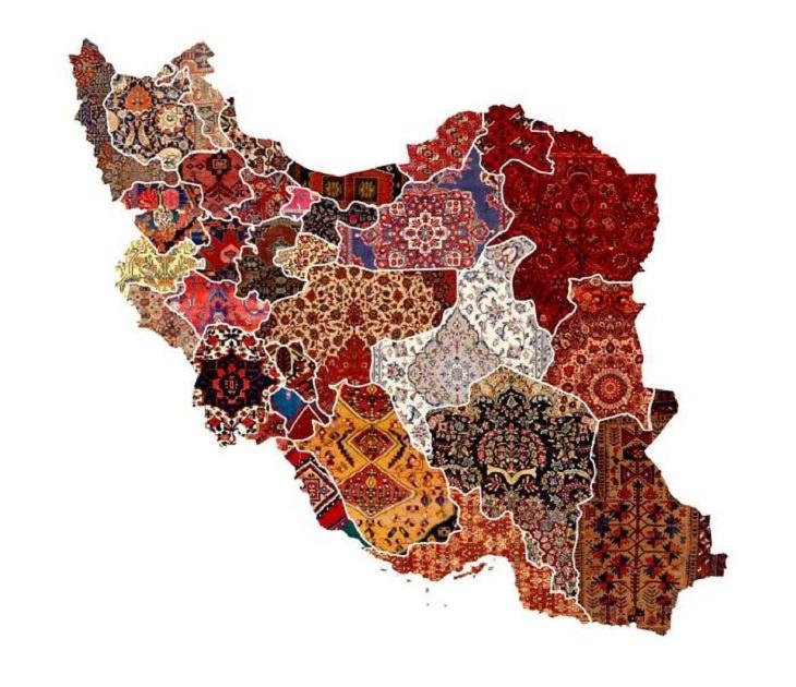 Informative Maps,  rug patterns of Iran