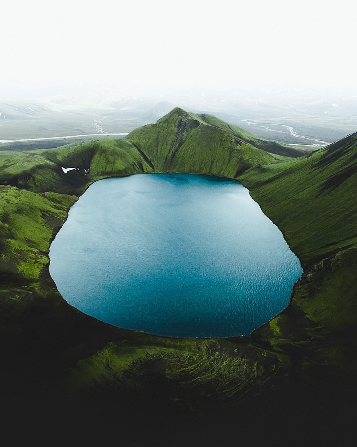 Iceland Aerial Shots, lake view