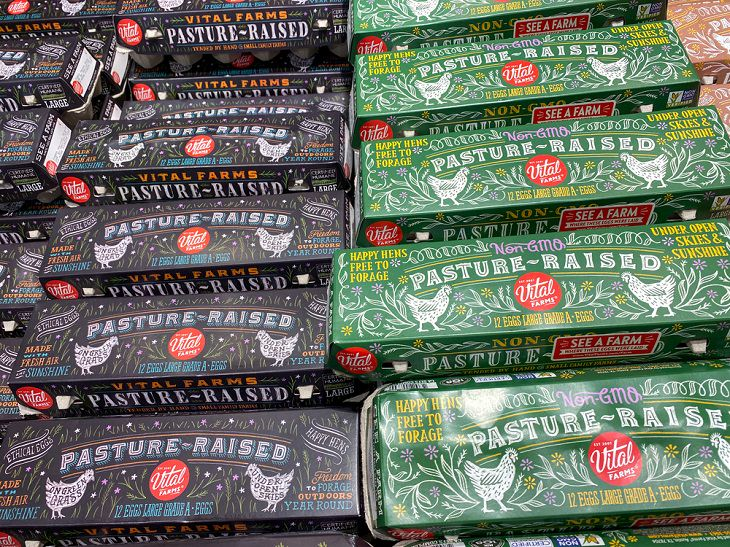 Egg Carton Labels, Pasture-Raised