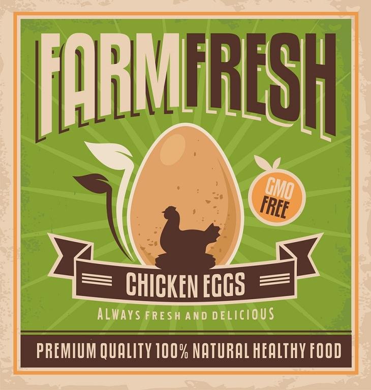 Egg Carton Labels, Farm Fresh