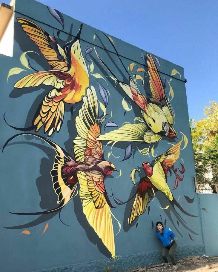 Murals of Wildlife, birds