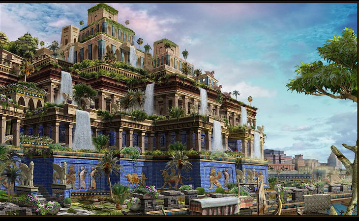 Famous Places And Objects Which Never Existed The Hanging Gardens of Babylon