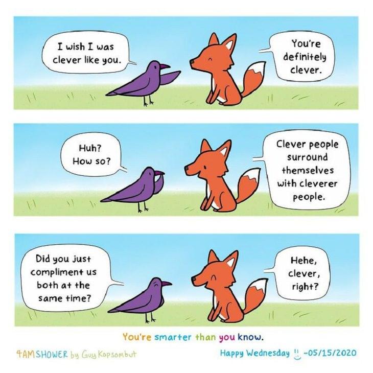 Wholesome Animal Comics, fox