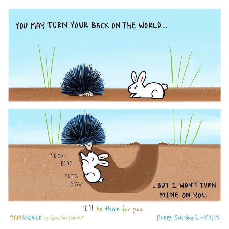 Wholesome Animal Comics, rabbit
