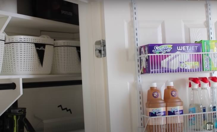 11 Practical Utility Closet Organizing Ideas over the door storage