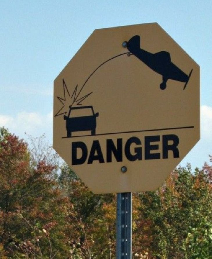 Funny Street Signs,danger