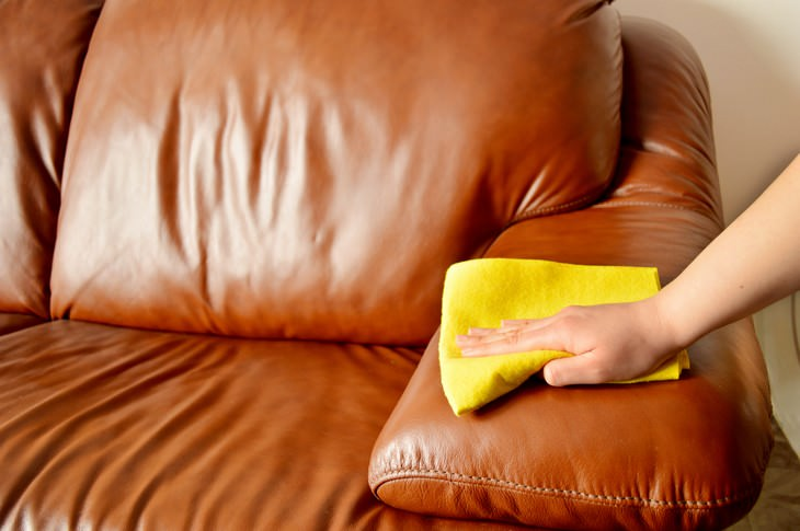 Olive Oil Household Uses leather couch