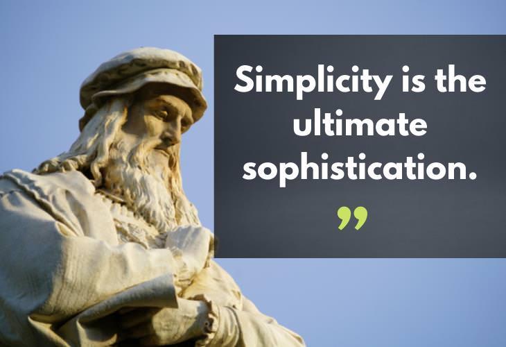 Quotes by Leonardo da Vinci, simplicity
