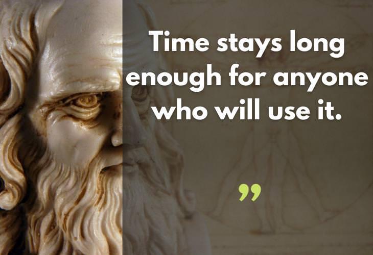 Quotes by Leonardo da Vinci, time
