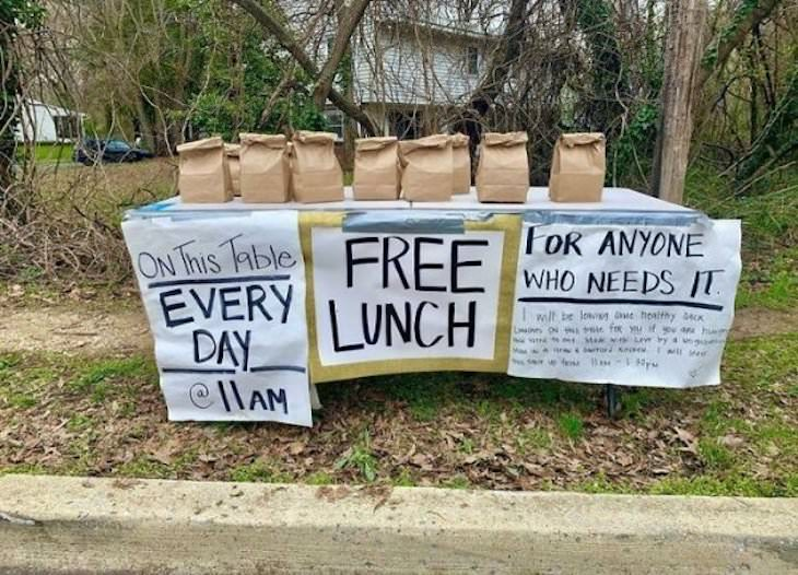 13 Heartwarming Stories of Brave and Kind People free lunch
