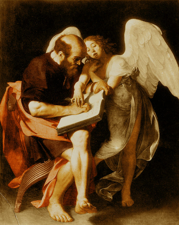 7 Most Controversial Artworks In History Caravaggio, St. Matthew and the Angel,1602