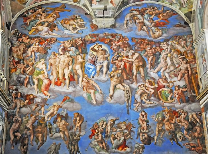 7 Most Controversial Artworks In History Michelangelo, The Last Judgement,1536–1541