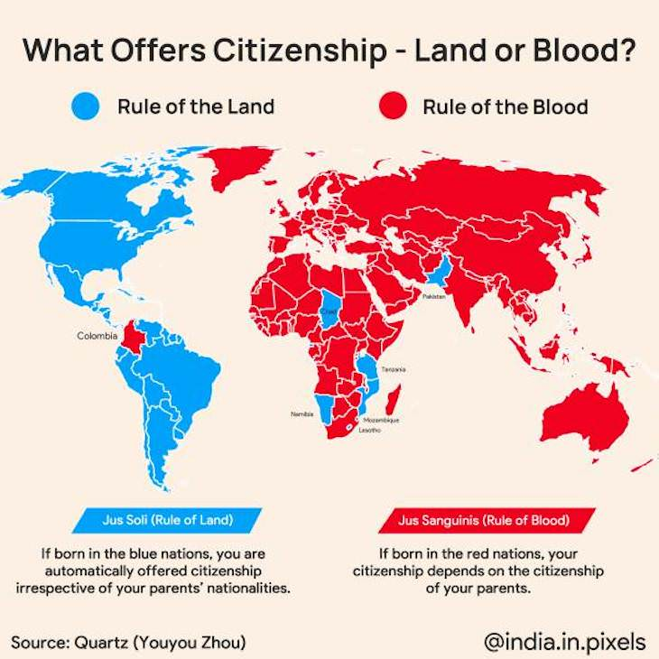 Fun Informative Maps On A Variety of Topics citizenship