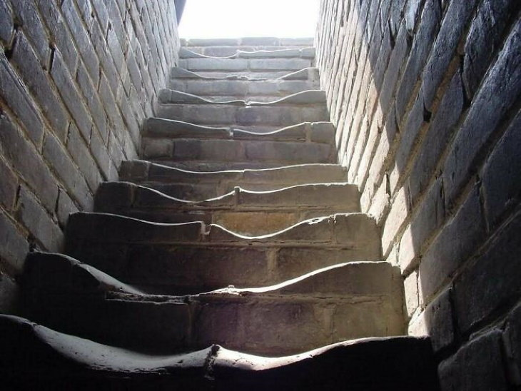 Old Objects The stairs on the Great Wall of China.
