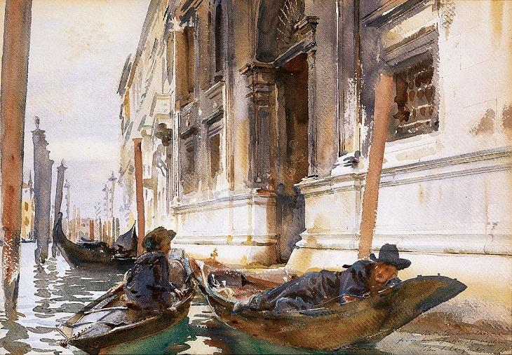 "John Sargent's Artworks, ""Gondoliers' Siesta"" (1904)"