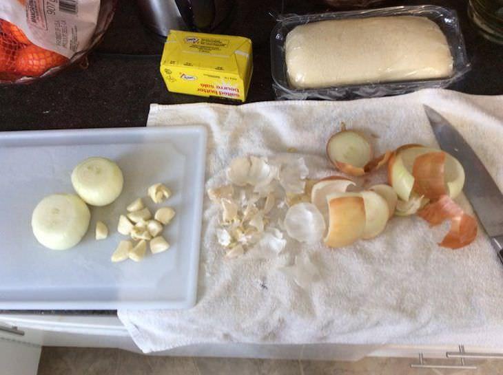 Kitchen Tips and Hacks peeling onion
