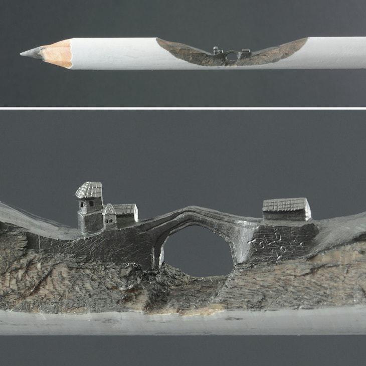 Pencil lead sculptures by JasenkoĐorđević houses