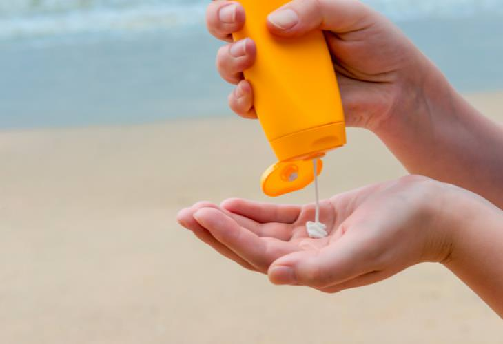 Sunscreen, areas,