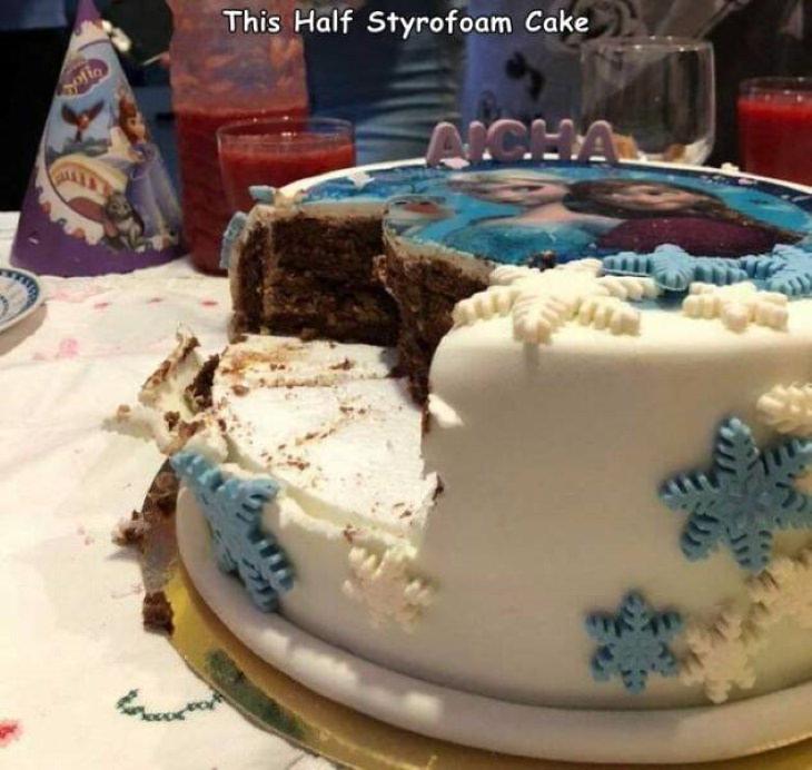 Misleading Food Packages birthday cake
