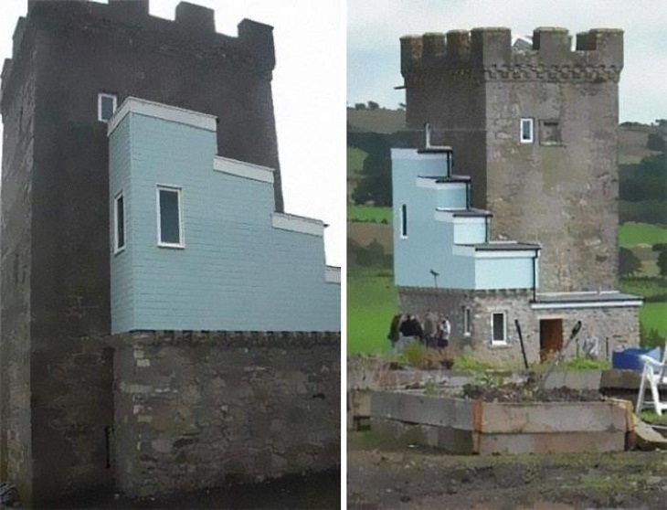 Interior Design Fails 500-year-old castle