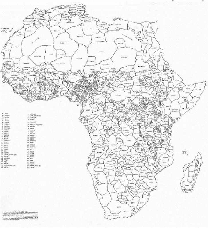 Unusual Maps, Map of Africa's borders