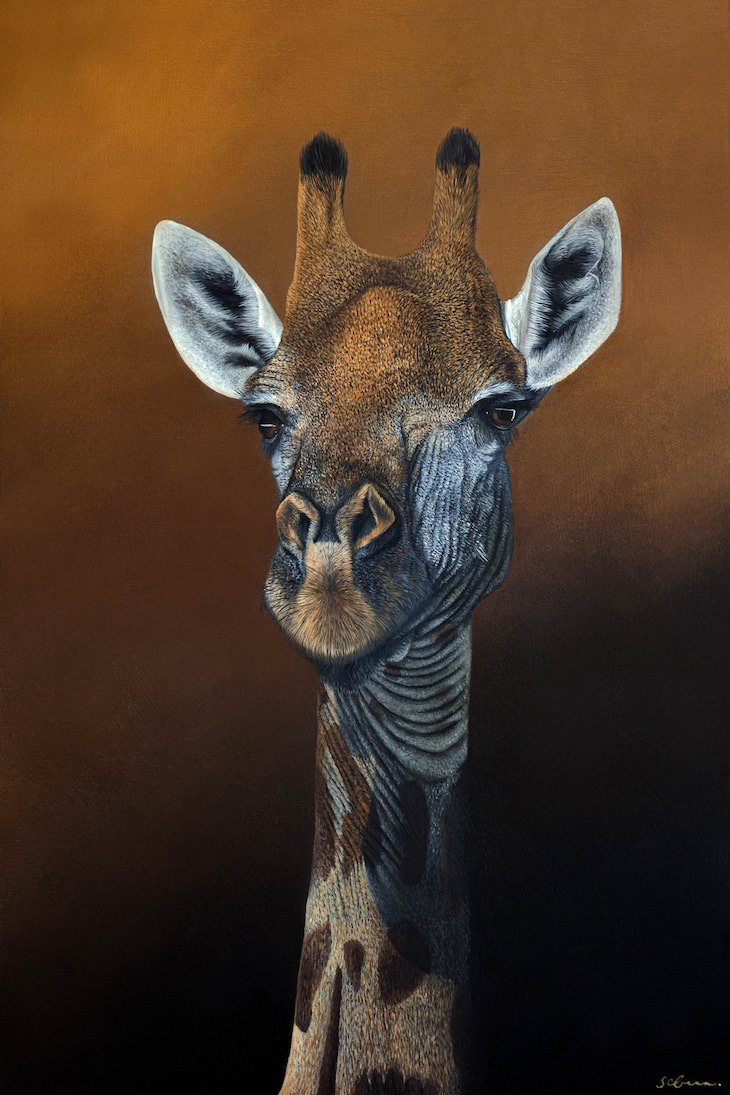 Brilliantly Detailed Animal Portraits by Sophie Green giraffe