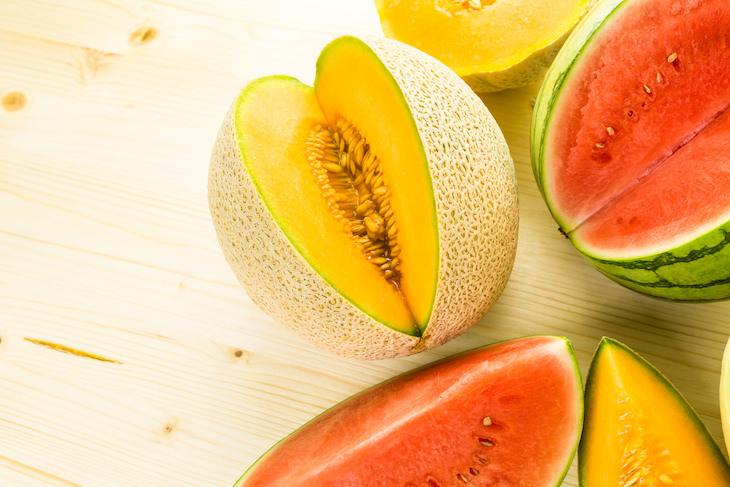 Qué Comer y Beber Cuando Estás Deshidratado Sandía y melones
