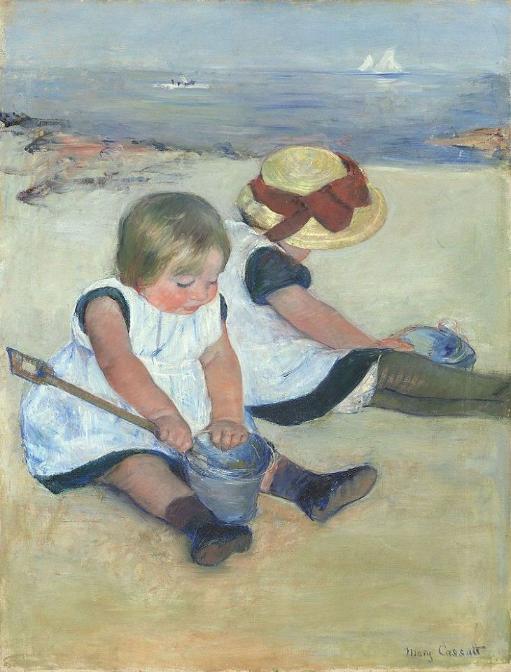 Beach Paintings, Children Playing On The Beach