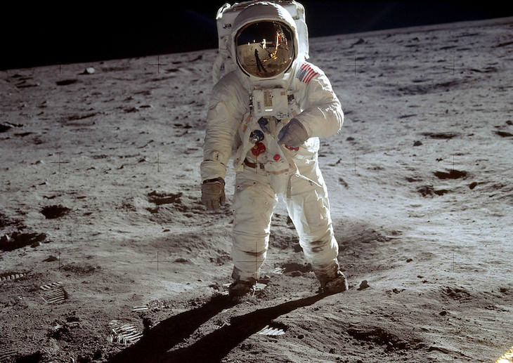 Fascinating Facts About Conspiracy Theories Buzz Aldrin on the moon
