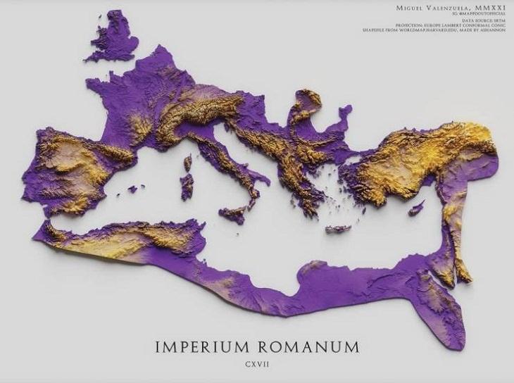 Unusual and Fun Maps, Roman Empire,