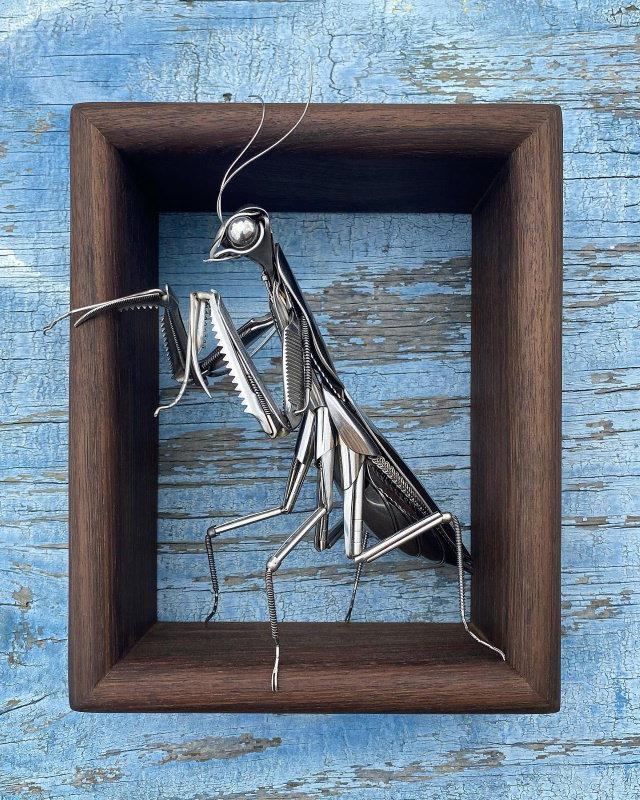 Animal Art by Matt Wilson mantis